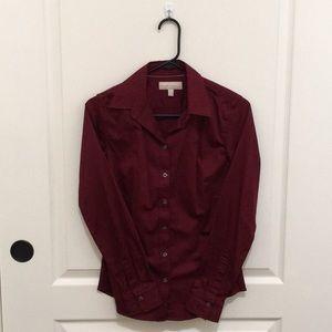 Banana Republic Crimson Red Blouse Dress Shirt